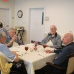 The men here shared some of their stories among the group.