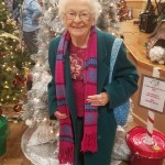 here is Shirley showing off some of the displays of trees.
