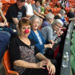 There is Dee the Community Life Director always clowning around.