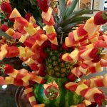 This gorgeous fruit arrangement looked too good to eat!