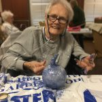 Dorothy wasn't afraid to get messy while channeling her inner Picasso!