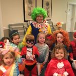 Our friendly clown Shirley with the preschoolers!