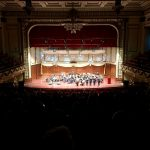 Not only did we enjoy the music, but look at the beautiful architecture of Symphony Hall!