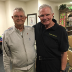 Jim and our great entertainer, Jack Dunham, who have known each other for many years!