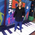 Cathy was thrilled to tap around on the life-size piano!