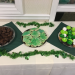 Delicious snacks served at the Saint Patrick's Day Party!